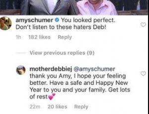 Amy Schumer from Instagram