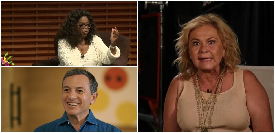 Bob Iger, Roseanne Barr, Oprah YouTube thumbnails