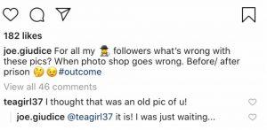 RHONJ Joe Giudice Instagram Screenshot