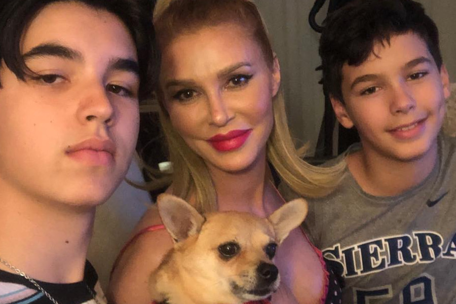 RHOBH Brandi Glanville and sons Instagram