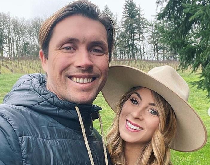Tenley Molzahn Leopold and husband Taylor Leopold via Instagram
