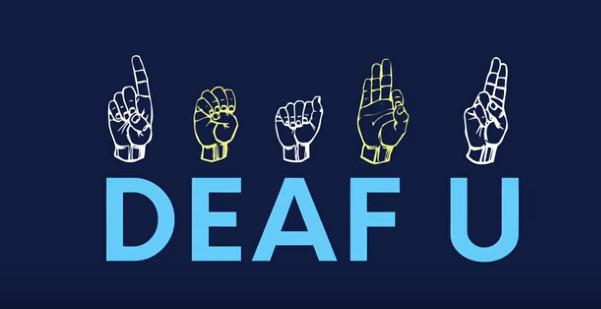 Deaf U Logo YouTube