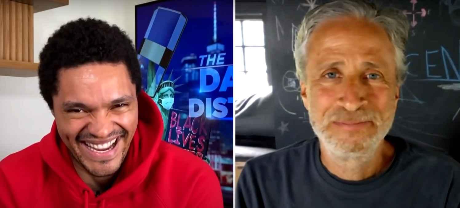 The Daily Show's Trevor Noah and Jon Stewart