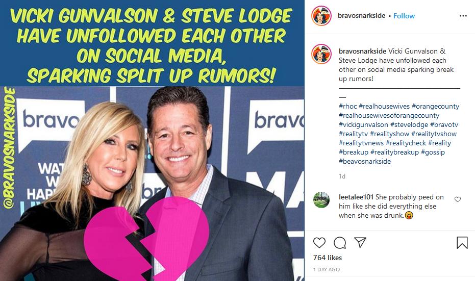 vicki gunvalson and steve lodge instagram