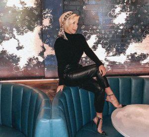 Savannah Chrisley in leather