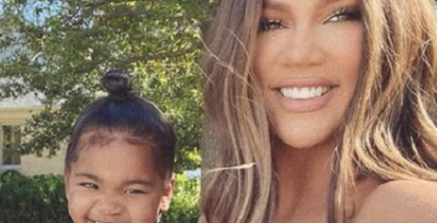 khloe kardashian with daughter true instagram
