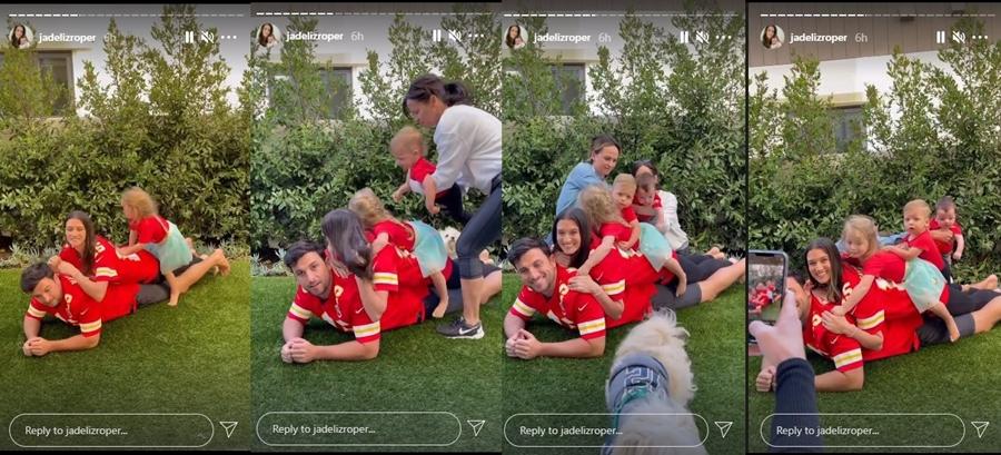 How Did Jade Roper Put Together Her Super Bowl Photo