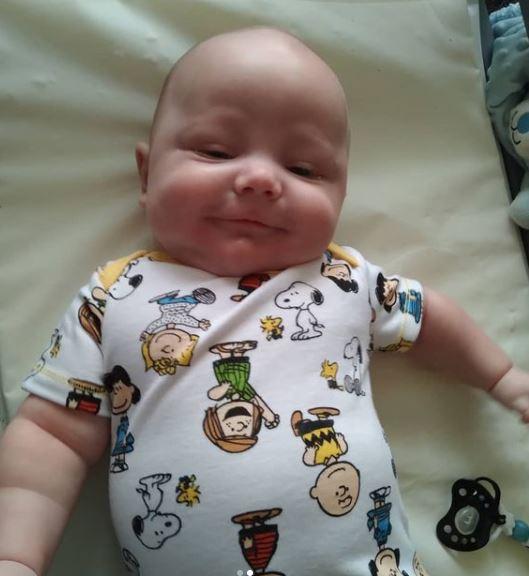 Amy Halterman's baby gage Peanut