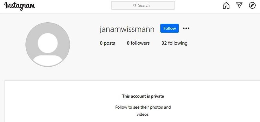 Jana Duggar's engaged Instagram account