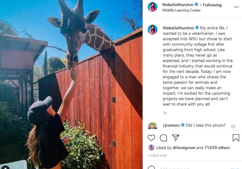 Katie Thurston childhood dream job via Instagram