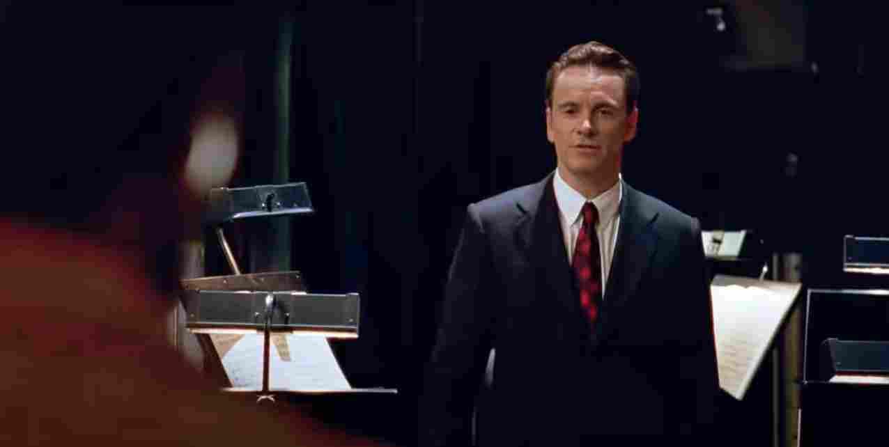 Michael Fassbender in the movie Steve Jobs